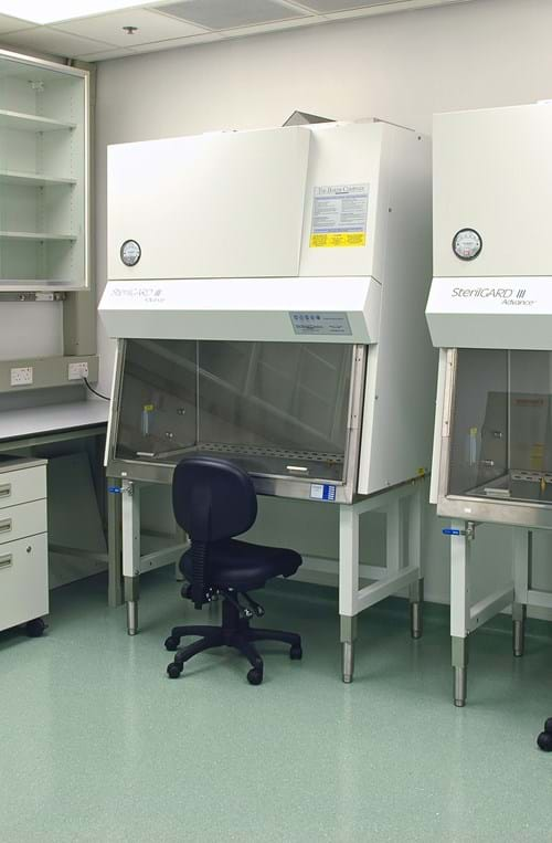 BSL-3 laboratory with Class II BSCs