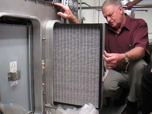 Pre-filters on air handling system