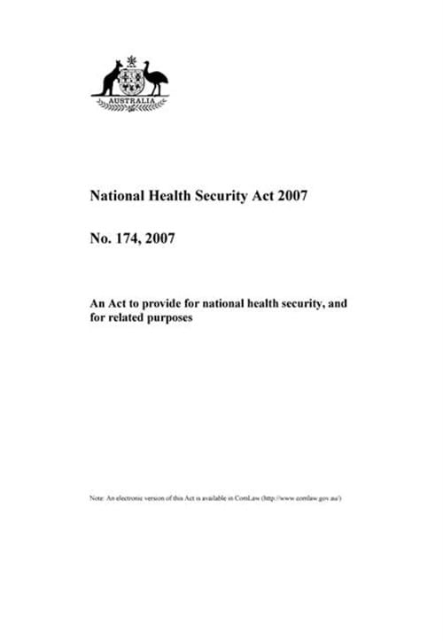 National Health Security Act 2007
